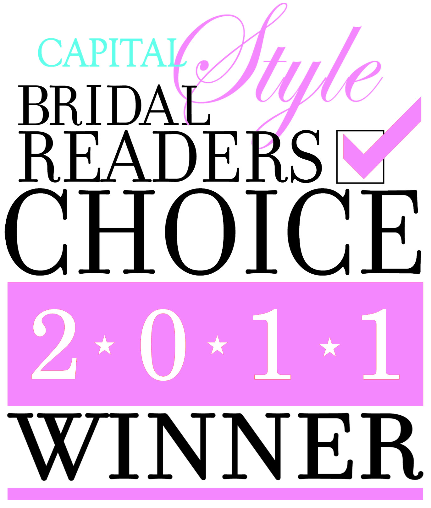 Capital Bridal Readers Choice Winner 2011 Logo