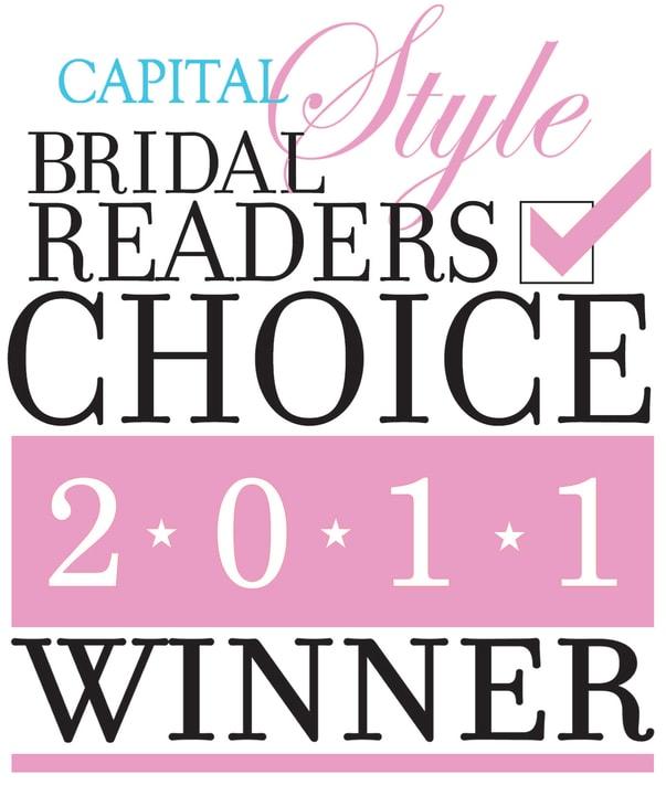 Capital Bridal Readers Choice Winner 2011 Logo